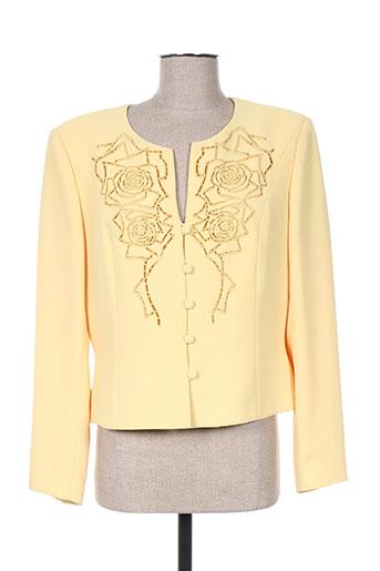 frank usher vestes femme de couleur jaune