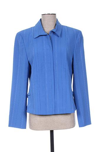 Veste chic / Blazer bleu HAUBER pour femme
