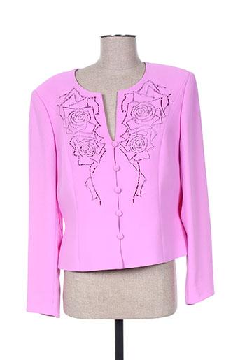 Veste chic / Blazer rose FRANK USHER pour femme