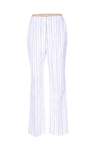 basler pantalons femme de couleur blanc