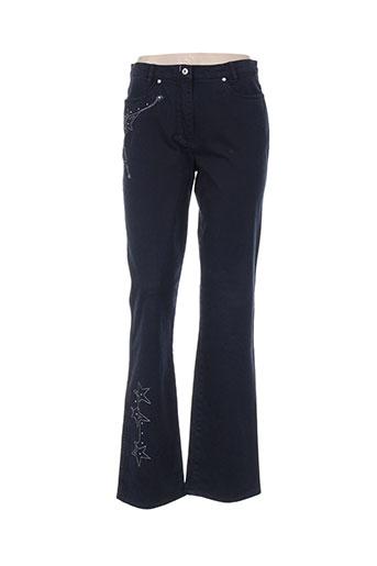 hauber pantalons femme de couleur bleu