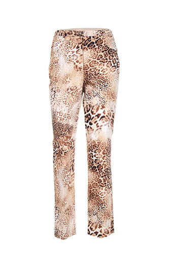 hucke woman pantalons femme de couleur marron