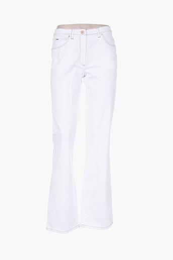 basler jeans femme de couleur blanc