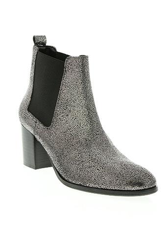 morgan chaussures femme de couleur gris