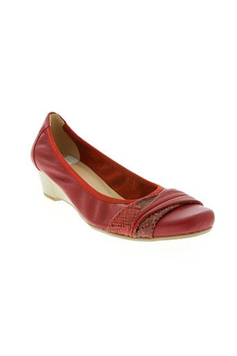 sweet chaussures femme de couleur rouge