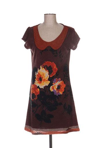 yumi robes femme de couleur marron