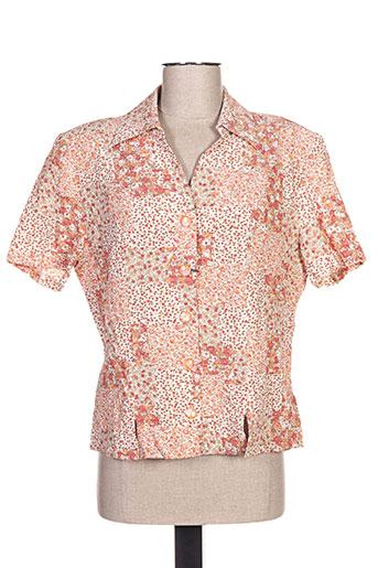 impulsion chemises femme de couleur orange