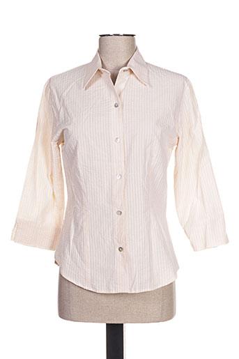 claude de saivre chemises femme de couleur beige