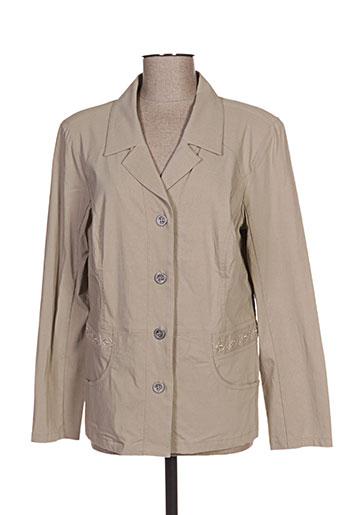 telmail vestes femme de couleur beige