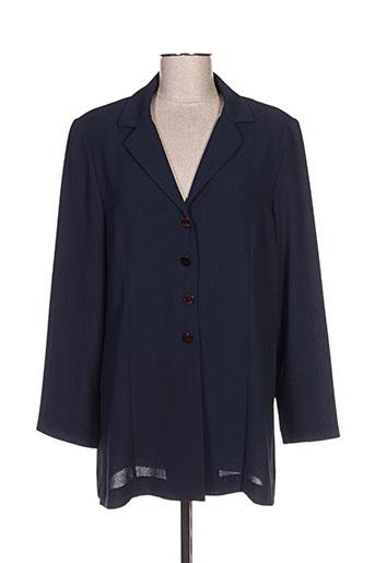 janine pauporté vestes femme de couleur bleu
