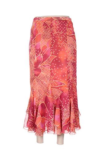 pauporté jupes femme de couleur orange
