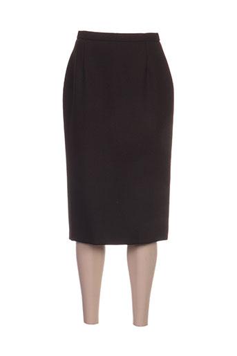 janine pauporté jupes femme de couleur marron