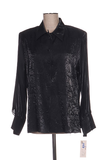 lysa kara chemises femme de couleur noir