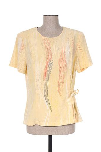 griffon chemises femme de couleur jaune