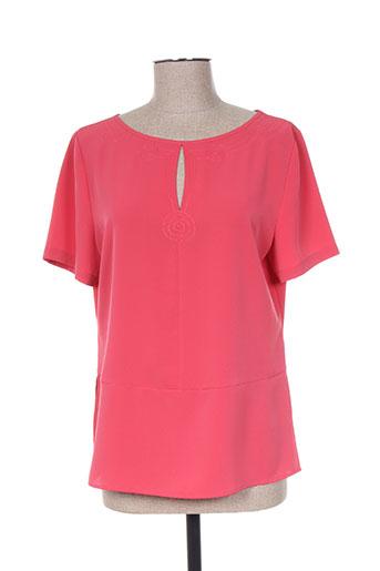christine laure chemises femme de couleur rose