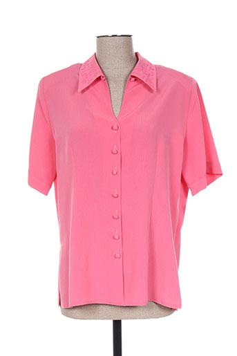 lysa kara chemises femme de couleur rose