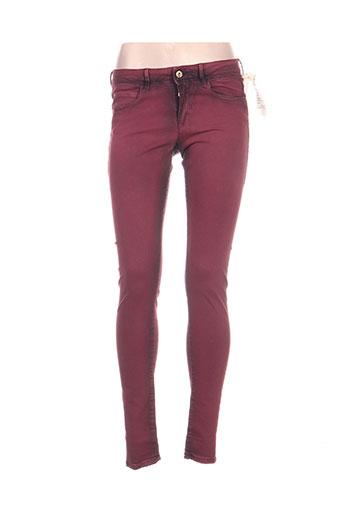 hugo boss jeans femme de couleur rouge