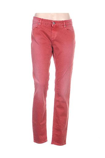 hugo boss jeans femme de couleur orange