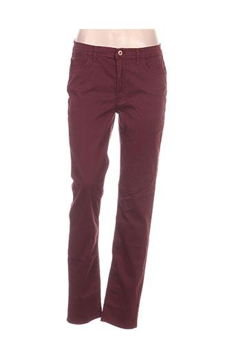 trussardi jeans pantalons femme de couleur rouge