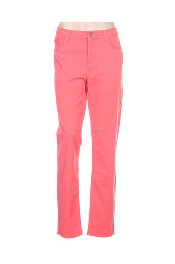 trussardi jeans pantalons femme de couleur rose