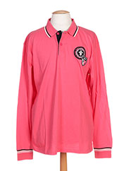 Polo manches longues rose CAMBE pour homme seconde vue