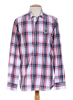 Chemise manches longues rose CAMBE pour homme