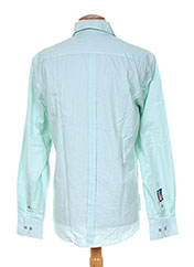 Chemise manches longues vert CAMBE pour homme seconde vue