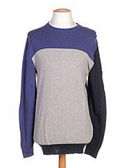 Pull col rond bleu CAMBE pour homme seconde vue