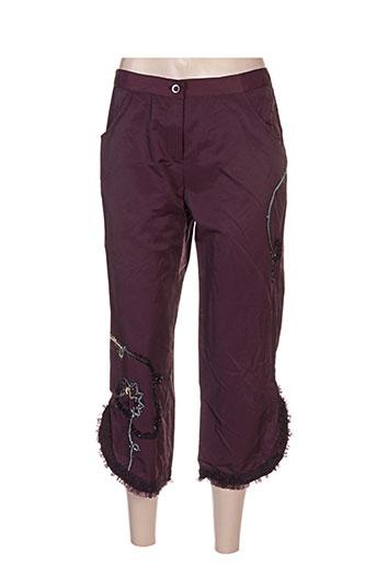 l33 pantacourts femme de couleur violet