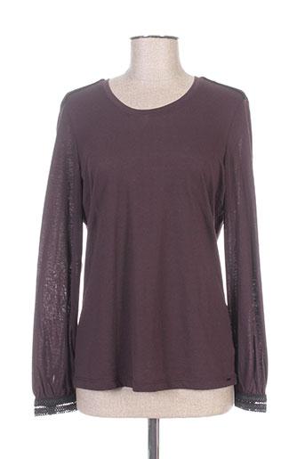 elora chemises femme de couleur violet