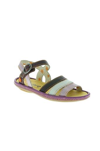 art chaussures fille de couleur violet