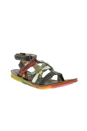art chaussures fille de couleur marron