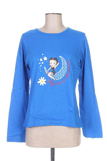 T-shirt manches longues bleu BETTY BOOP pour femme