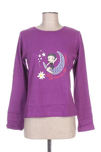 T-shirt manches longues violet BETTY BOOP pour femme