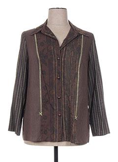 Veste casual marron FRANCOISE F pour femme