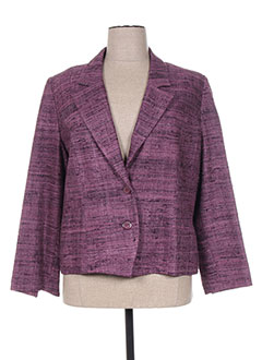 Veste chic / Blazer rose FRANCOISE F pour femme