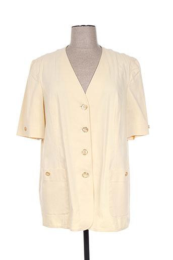 delmod vestes femme de couleur jaune