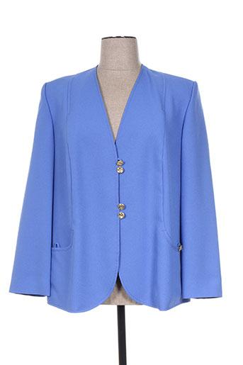 creations sonia vestes femme de couleur bleu
