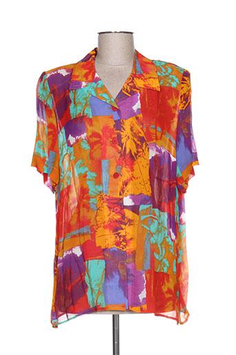 francoise de france chemises femme de couleur orange