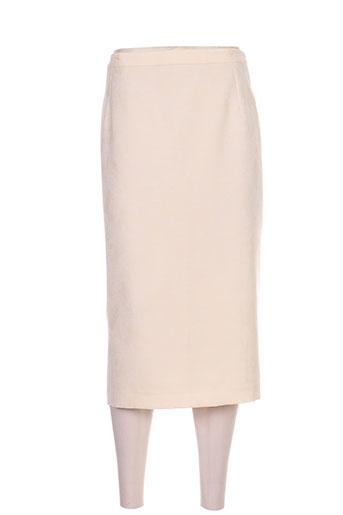 Jupe mi-longue beige COUTUREINE pour femme