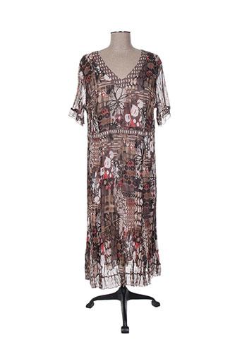 Robe mi-longue marron GERRY WEBER pour femme