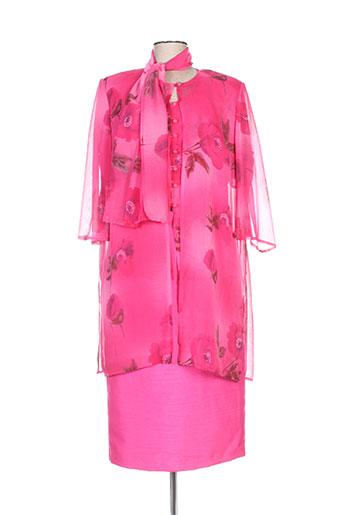 creations sonia ensemble femme de couleur rose