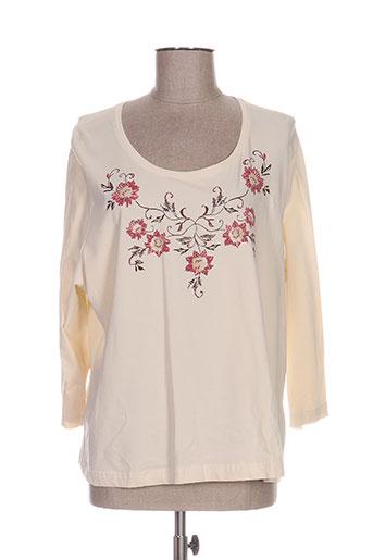 frank eden t-shirts femme de couleur beige