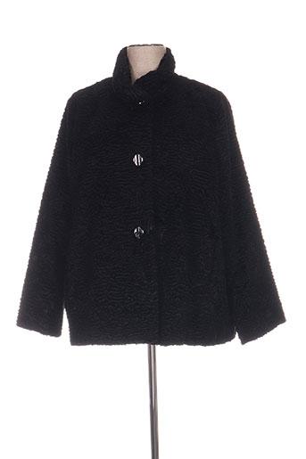 luisa viola manteaux femme de couleur noir
