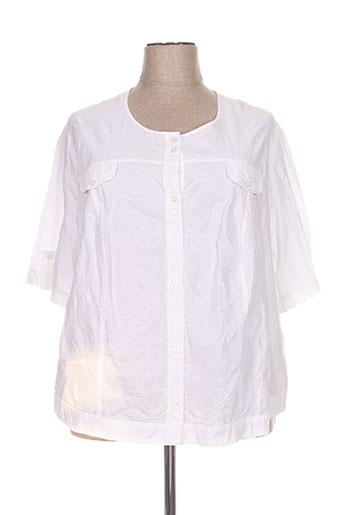 francoise de france chemises femme de couleur blanc