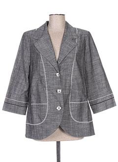 Veste chic / Blazer gris REGINE pour femme