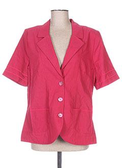 Veste casual rouge REGINE pour femme