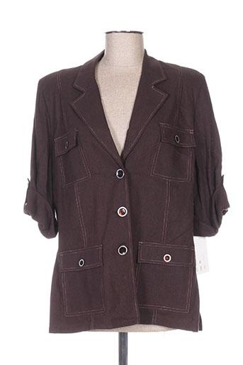 regine vestes femme de couleur marron