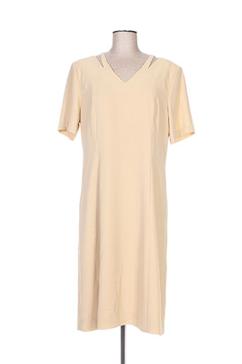 Robe mi-longue beige CHRISTIAN MICHEL pour femme