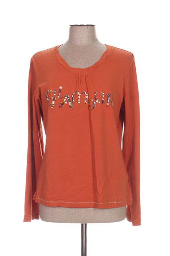 luisa viola t-shirts femme de couleur orange